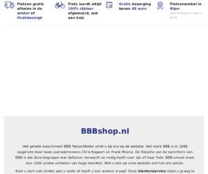 BBBshop.nl cashback