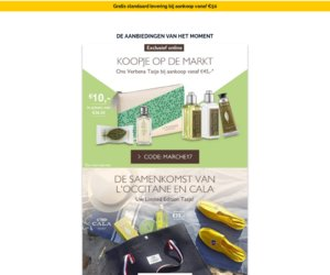 L'occitane BE cashback