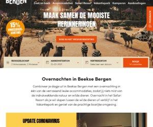 Beeksebergen.nl  Vakantiepark & Safari Resort cashback